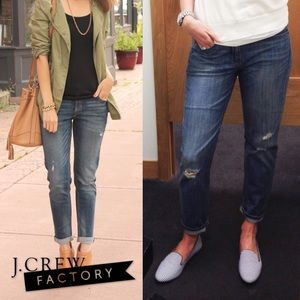 J. Crew Factory Distressed Boyfriend Jeans
